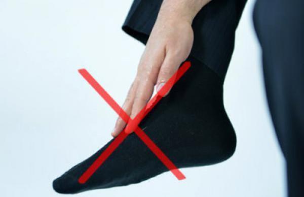 Проблема протирания носков