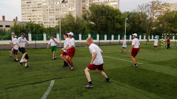 Прошел матч по футболу среди инвалидов с ДЦП