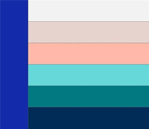 Сочетание синего цвета