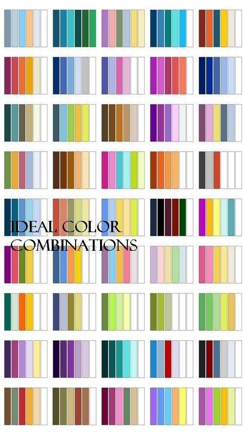 Идеальные цветовые сочетания