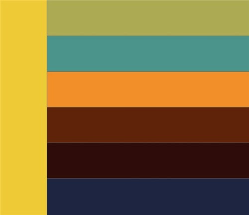 Сочетание светло-оранжевого цвета