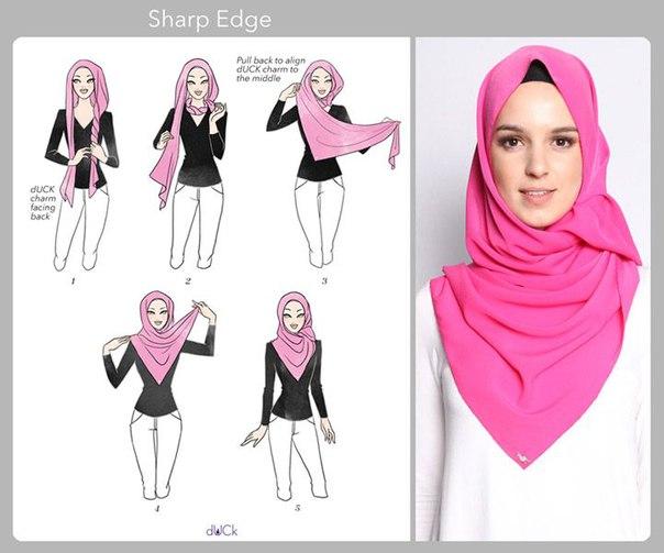 Как красиво завязать платок на голове мусульманке пошагово