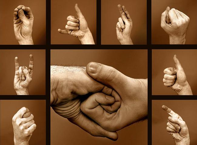 Примеры языка жестов