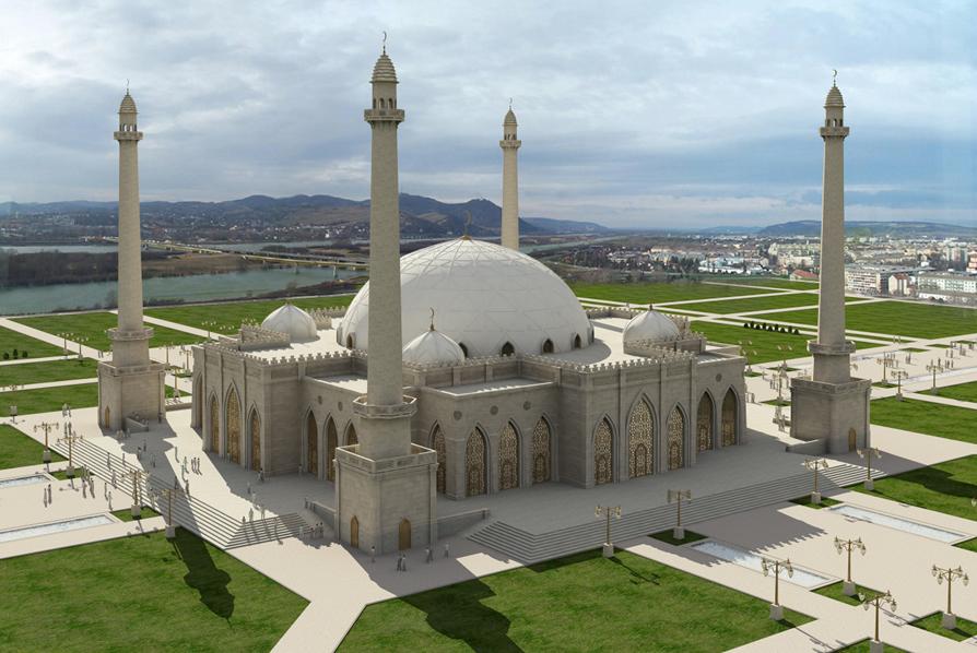 Купол в национальном стиле установят на Соборной мечети в Ингушетии