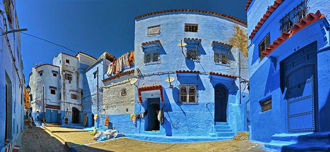 Синие стены зданий Шефшауена