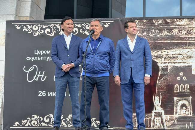 Даши Намдаков, Рустам Минниханов, Ильсур Метшин