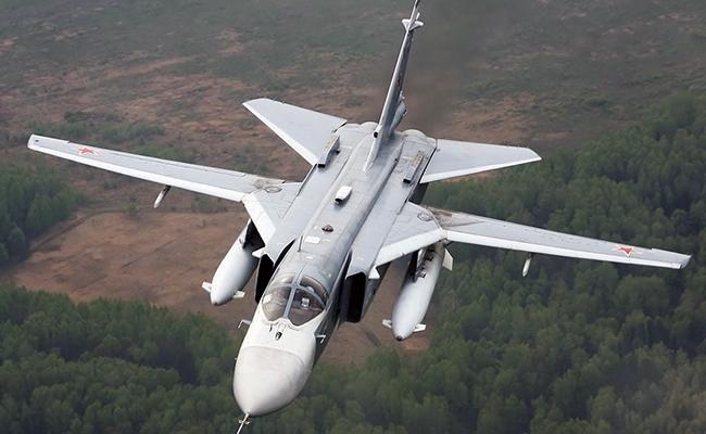 Российский самолет Су-24