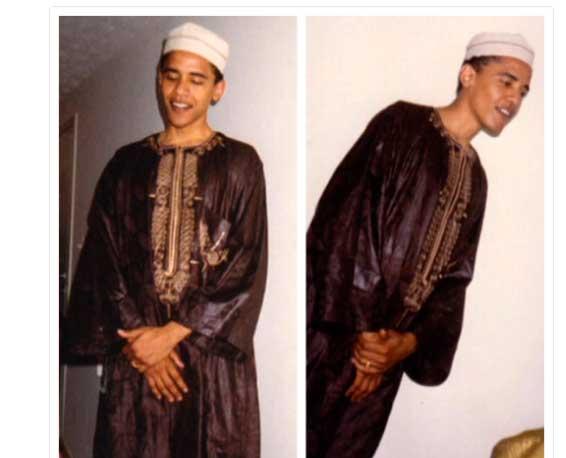 В интернете появились снимки Барака Обамы в мусульманской одежде