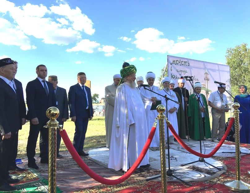 Талгат Таджуддин опубликовал «Вконтакте» фото с открытия мечети