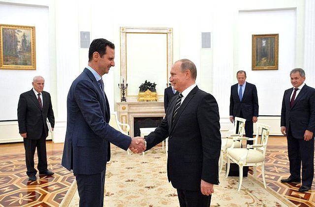 Переговоры Владимира Путина и Башара Асада