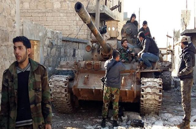 Солдаты правительственных войск Сирии
