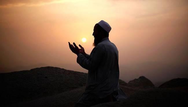 Мусульманин обращается к Богу