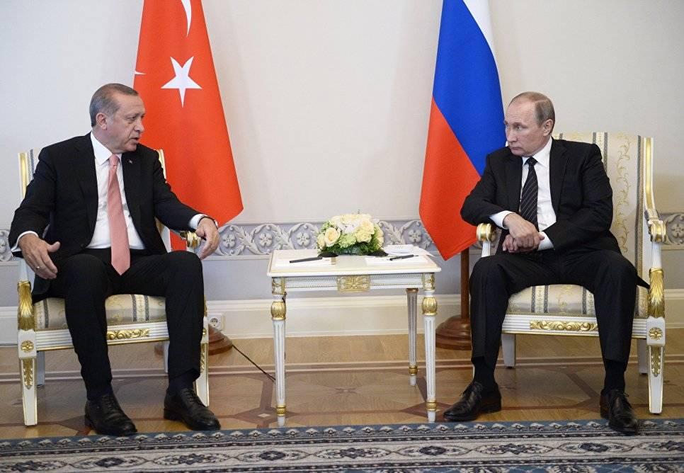 Путин иЭрдоган договорились вывести отношения надокризисный уровень