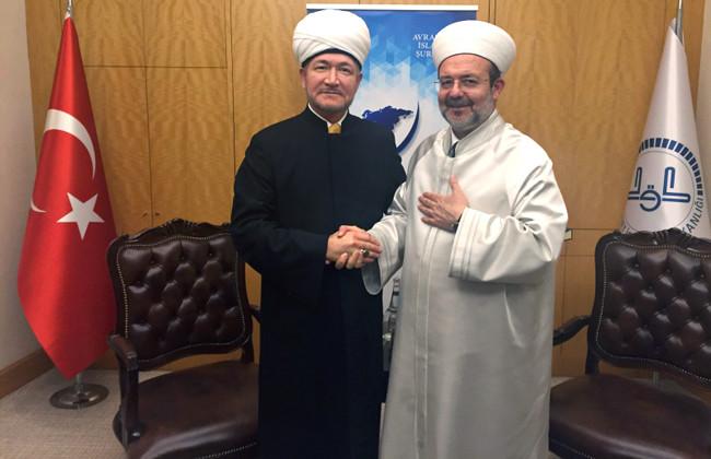 Гайнутдин встретился с  главой управления по делам религии Турции