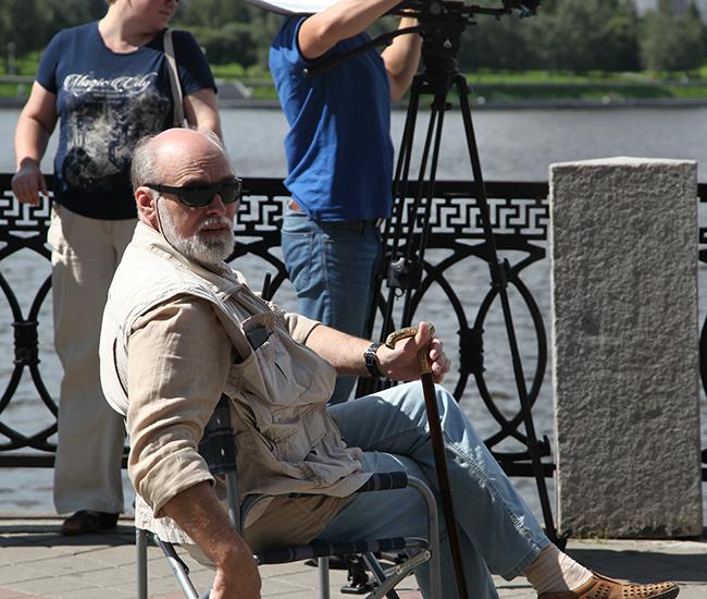 Александр Новопашин на съемочной площадке