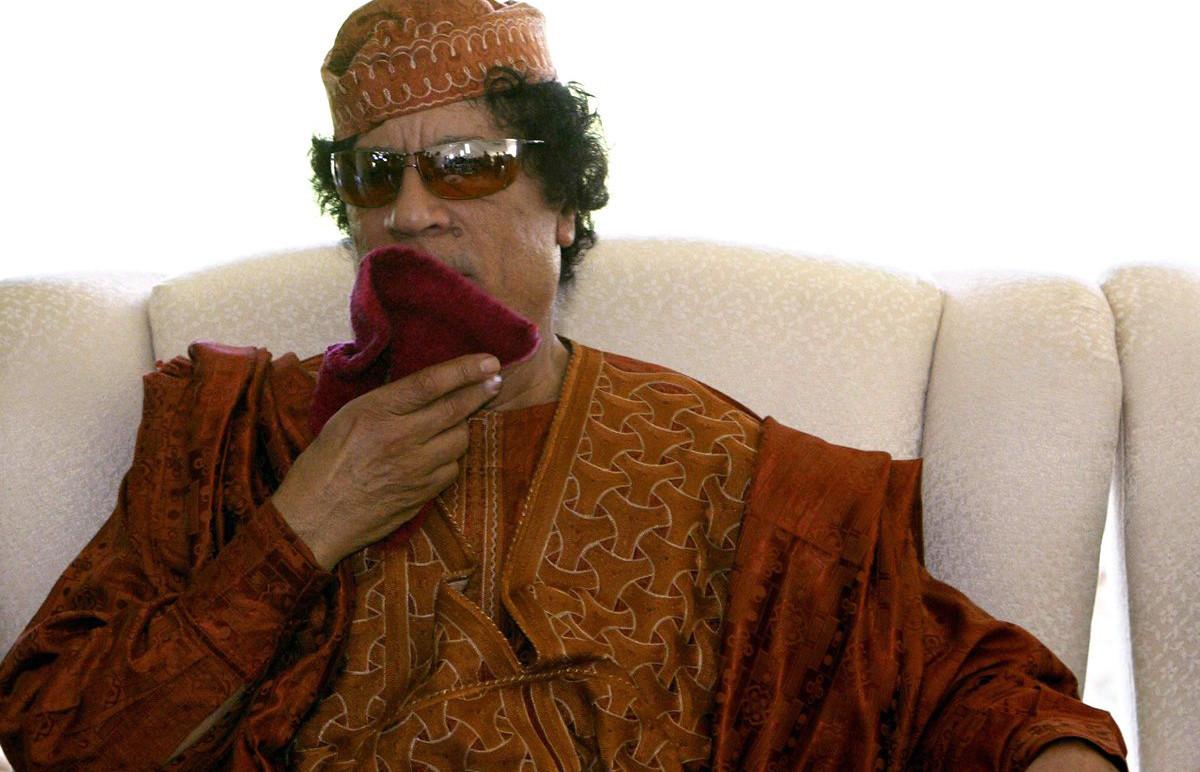 Безобразный конец Каддафи