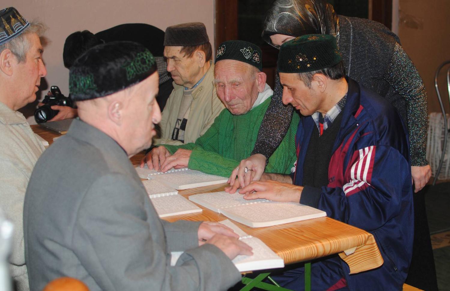 Последняя неделя курсов для незрячих людей при мечети «Сулейман» особенно насыщена мероприятиями
